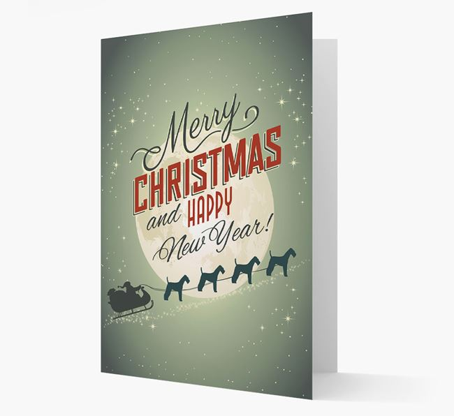 Flying Santa Christmas Card