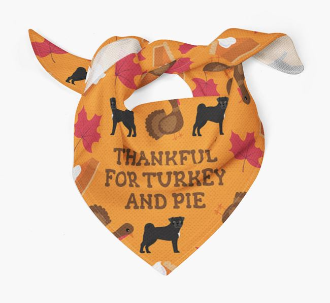 'Thankful For Turkey and Pie' - Personalized Jug Thanksgiving Bandana