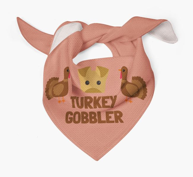 'Turkey Gobbler' - Personalized Airedale Terrier Thanksgiving Bandana