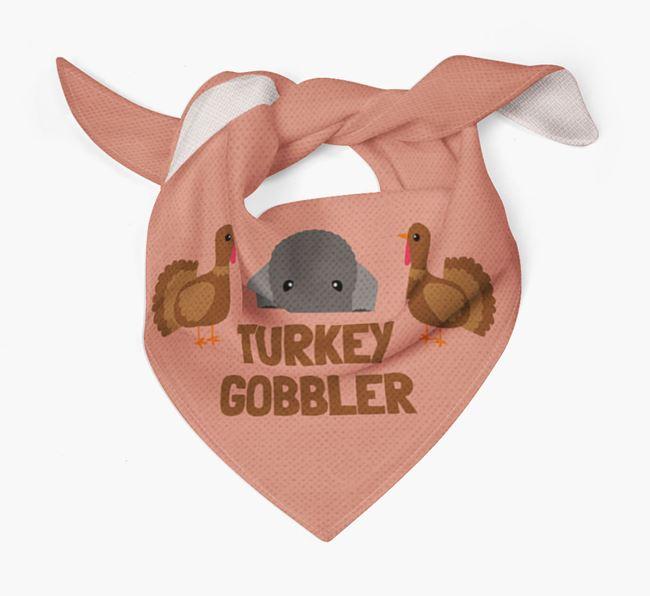 'Turkey Gobbler' - Personalized Bedlington Terrier Thanksgiving Bandana