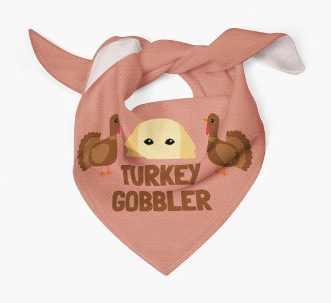 'Turkey Gobbler' - Personalized Flat-Coated Retriever Thanksgiving Bandana