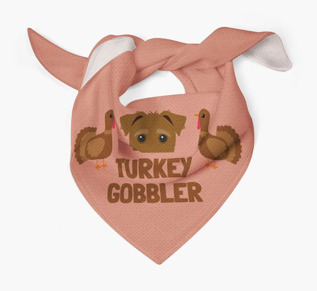 'Turkey Gobbler' - Personalized Jack-A-Poo Thanksgiving Bandana