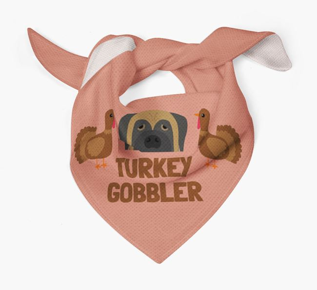 'Turkey Gobbler' - Personalized Mastiff Thanksgiving Bandana
