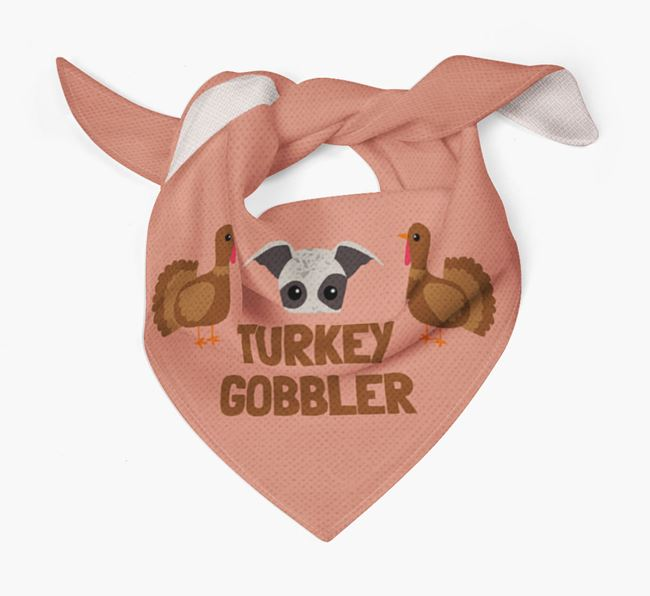 'Turkey Gobbler' - Personalized Whippet Thanksgiving Bandana