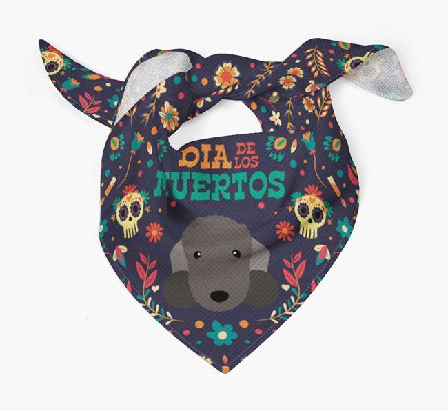 'Dia De Los Muertos' - Personalized Bedlington Terrier Bandana