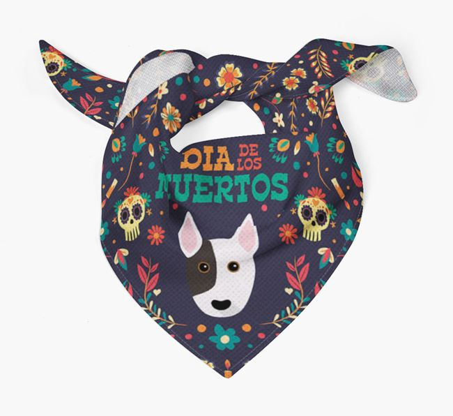 'Dia De Los Muertos' - Personalized Bull Terrier Bandana
