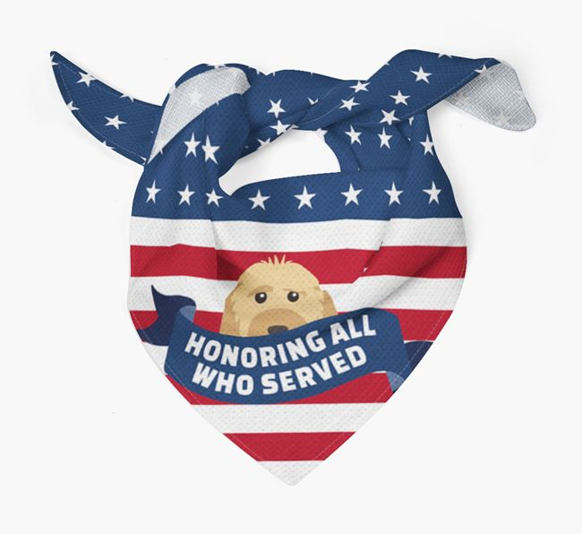 'Honoring All Who Served' - Personalized Cockapoo Veteran's Day Bandana