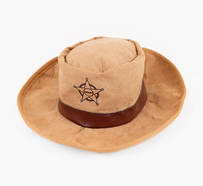 Sheriff Hat Dog Toy for your Cavachon