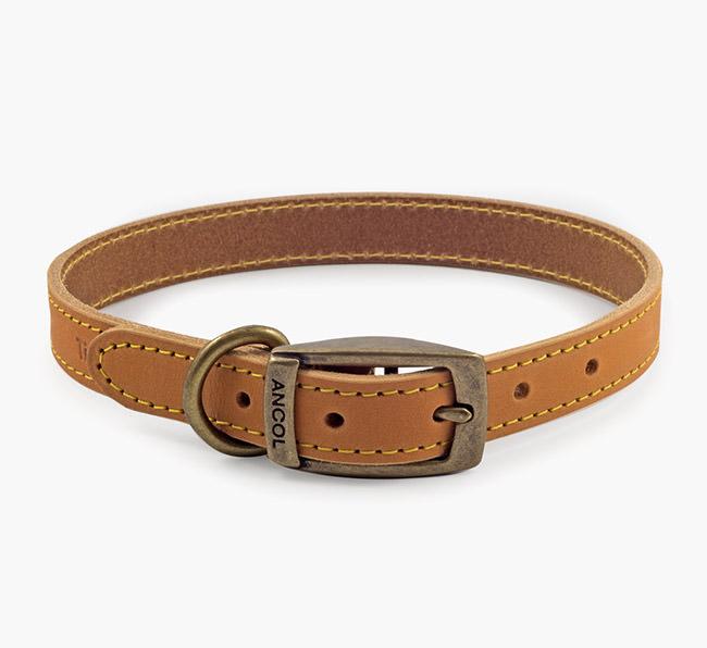 Ancol Timberwolf Leather Collar in Mustard