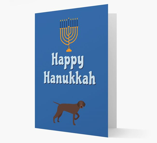 'Happy Hanukkah' - Personalized German Shorthaired Pointer Card