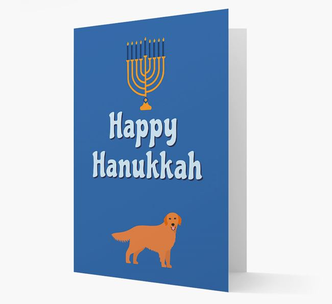 'Happy Hanukkah' - Personalized Golden Retriever Card