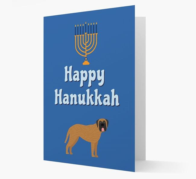 'Happy Hanukkah' - Personalized Mastiff Card