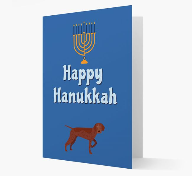 'Happy Hanukkah' - Personalized Pointer Card