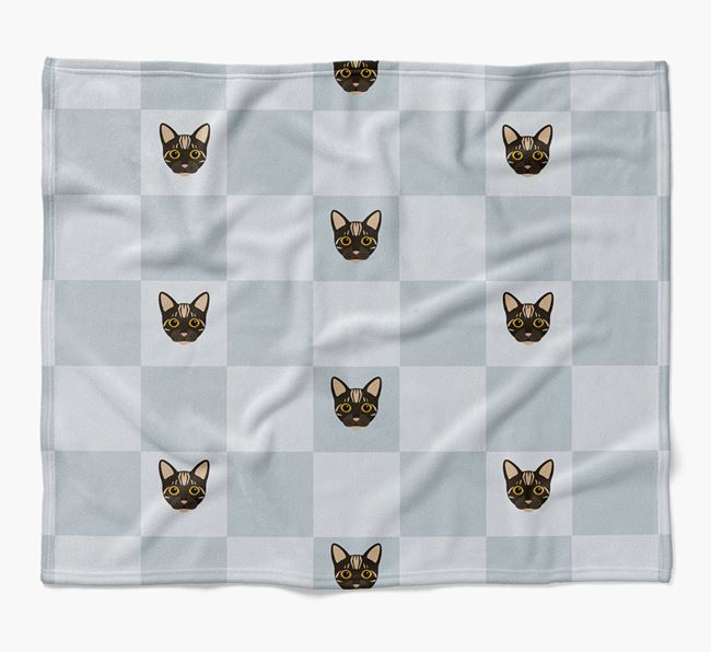 'Checkerboard' - Personalized Luxury Bengal Blanket