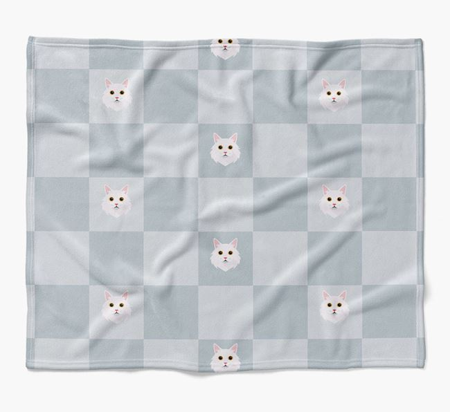 'Checkerboard' - Personalized Luxury Cat Blanket