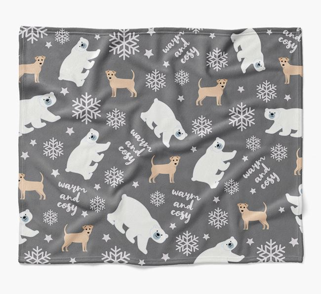 Polar Bear Pattern Blanket with Jack-A-Poo Icons