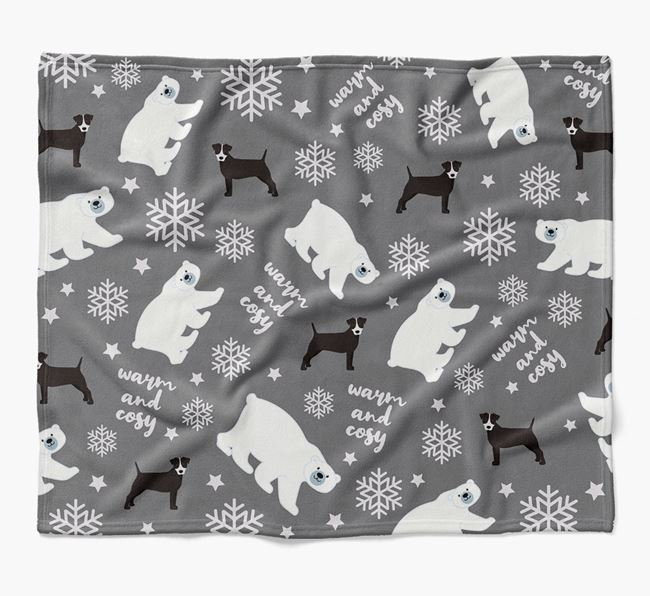 Polar Bear Pattern Blanket with Patterdale Terrier Icons