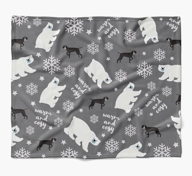 Polar Bear Pattern Blanket with Pointer Icons