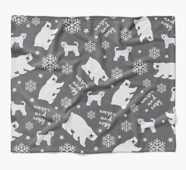 Polar Bear Pattern Blanket with Schnoodle Icons