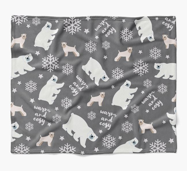 Polar Bear Pattern Blanket with Soft Coated Wheaten Terrier Icons