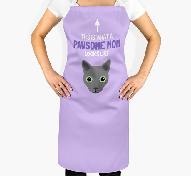 'Pawsome Mom' - Personalized Cat Apron