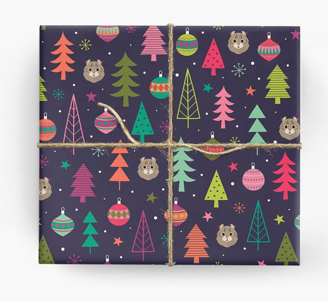 'Christmas Pattern' - Personalised Cat Wrapping Paper