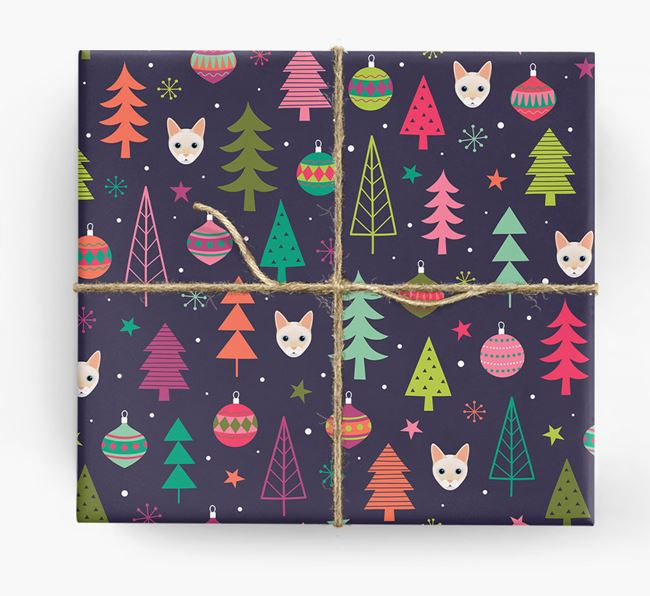'Christmas Pattern' - Personalised Siamese Wrapping Paper