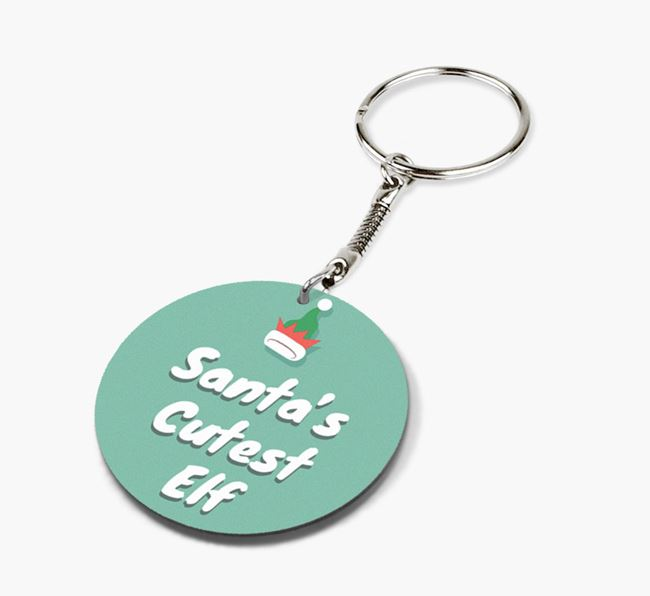 'Santa's Cutest Elf' - Photo Upload Keyring