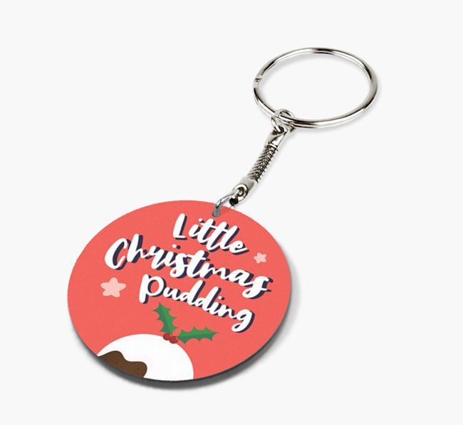 'Little Christmas Pudding' - Photo Upload Keyring