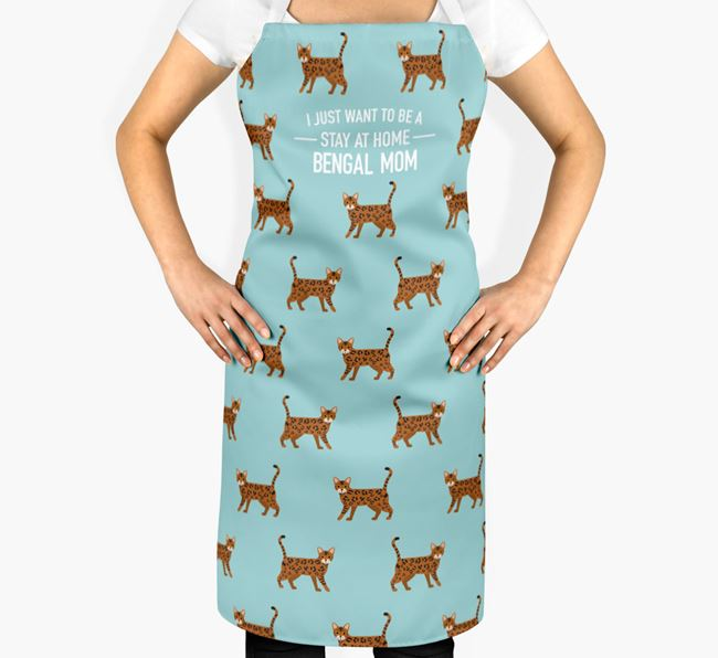 'Stay at Home Bengal Mum' - Personalized Apron
