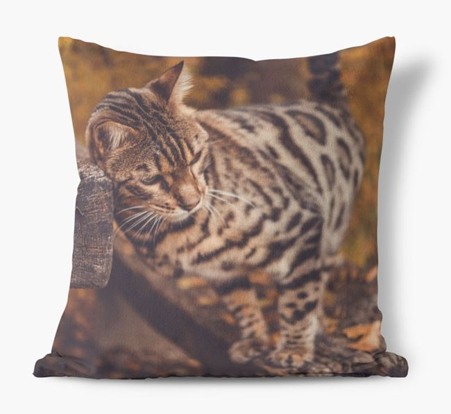 Photo Upload Cushion - Personalised for your Bengal