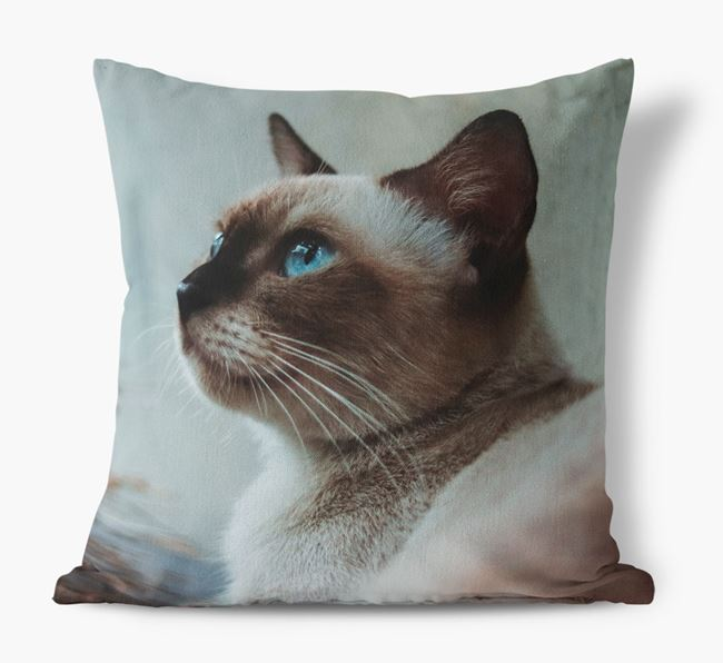 Photo Upload Cushion - Personalised for your Siamese