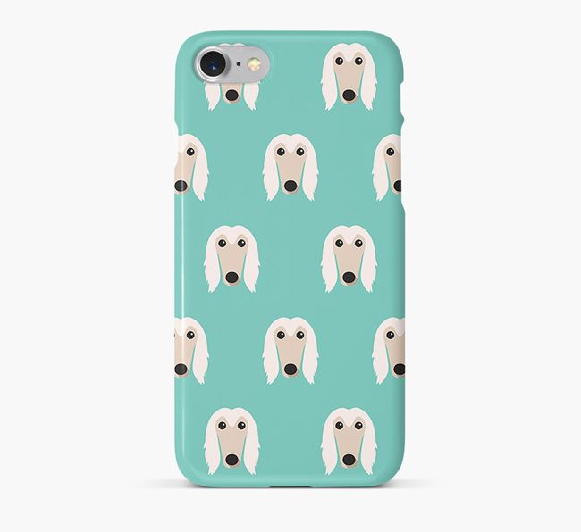 Phone Case with Afghan Hound Icons