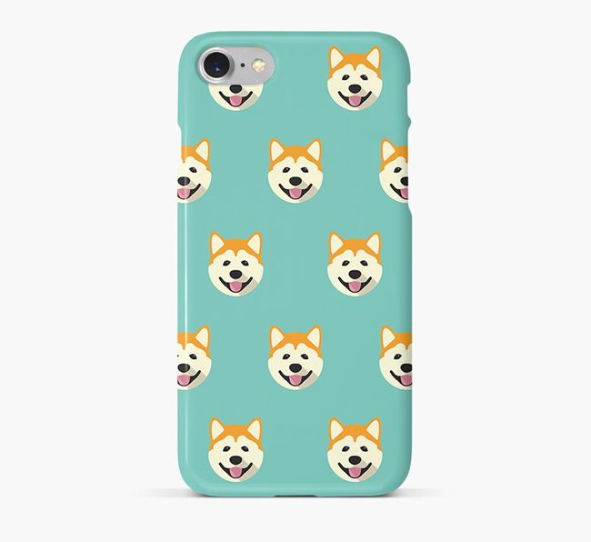 Phone Case with Akita Icons