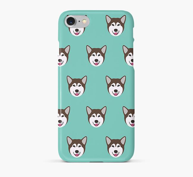 Phone Case with Malamute Icons