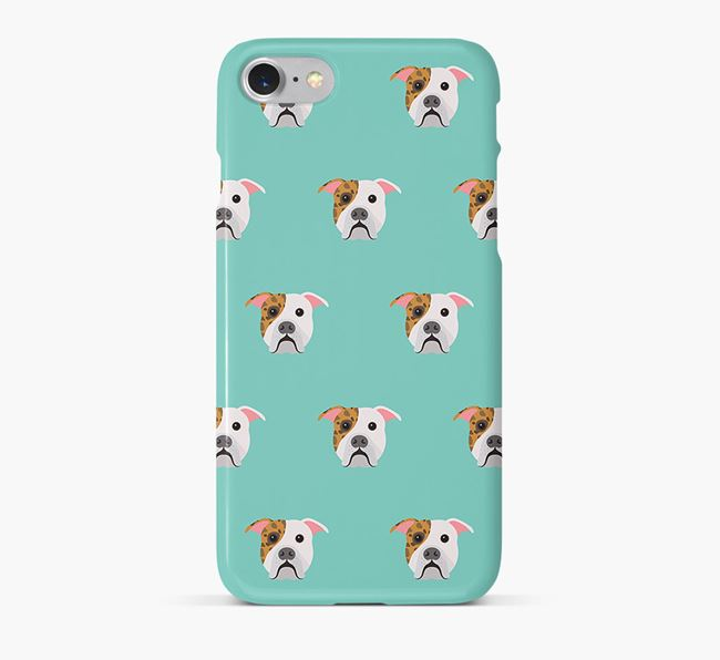 Phone Case with American Bulldog Icons
