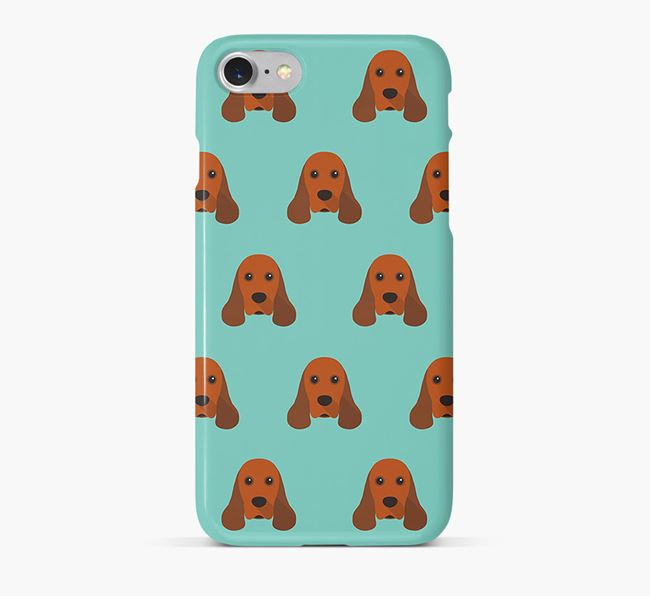 Phone Case with Cocker Spaniel Icons