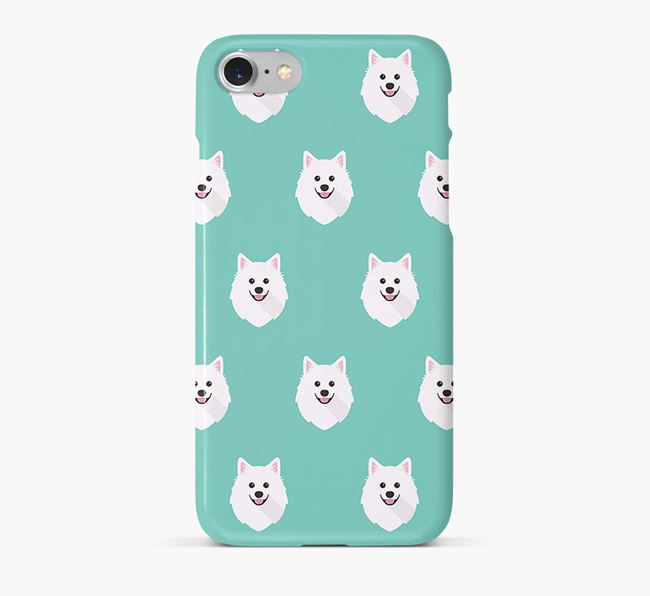 Phone Case with American Eskimo Icons