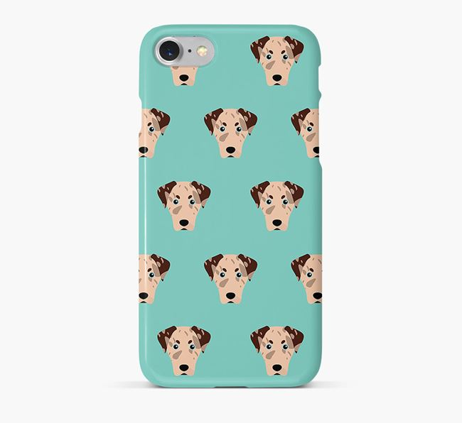 Phone Case with Leopard Cur Icons