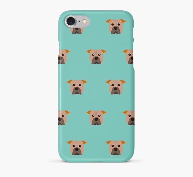 Phone Case with Pit Bull Terrier Icons