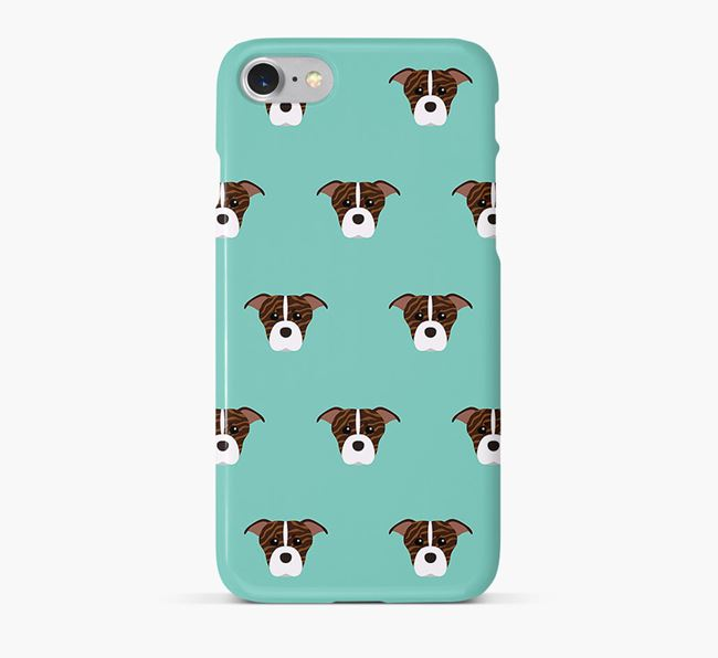 Phone Case with American Staffordshire Terrier Icons