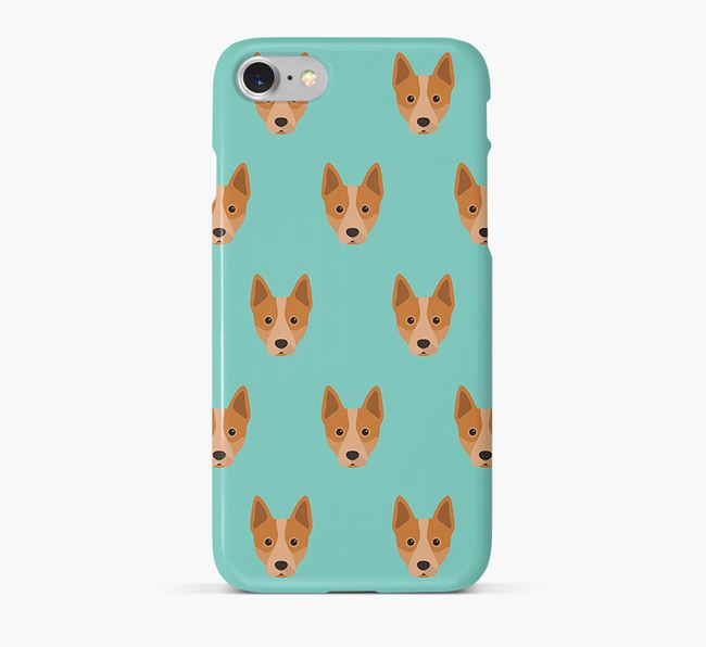 Phone Case with Cattle Dog Icons
