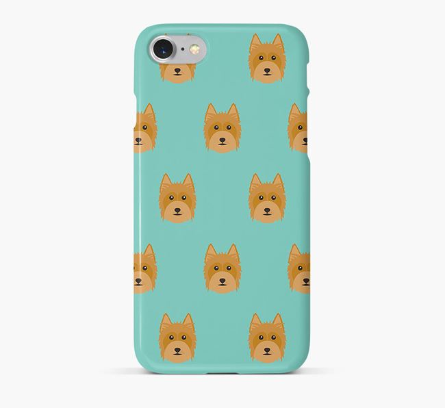 Phone Case with Silky Terrier Icons