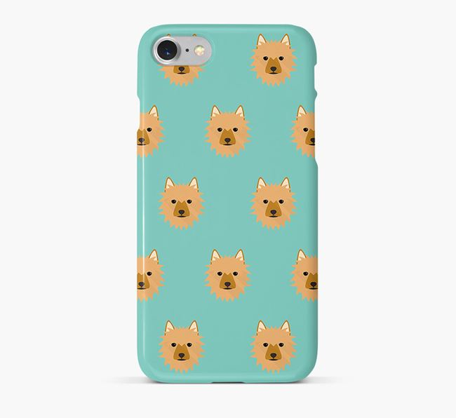 Phone Case with Aussie Terrier Icons