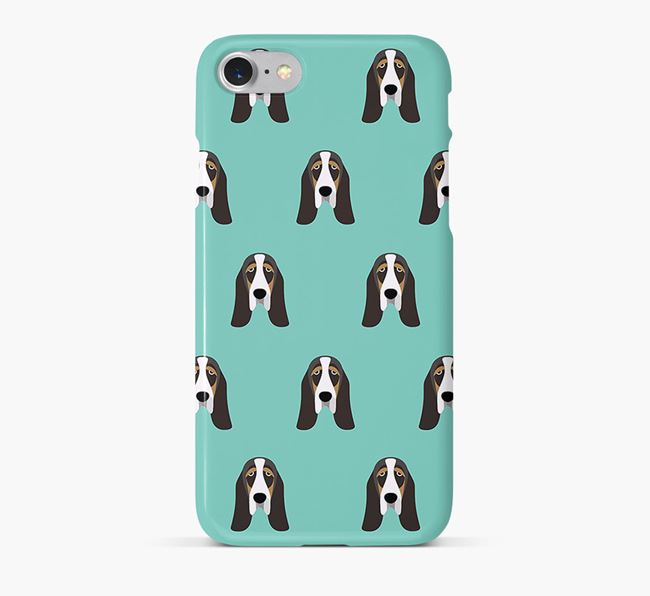 Phone Case with Basset Hound Icons