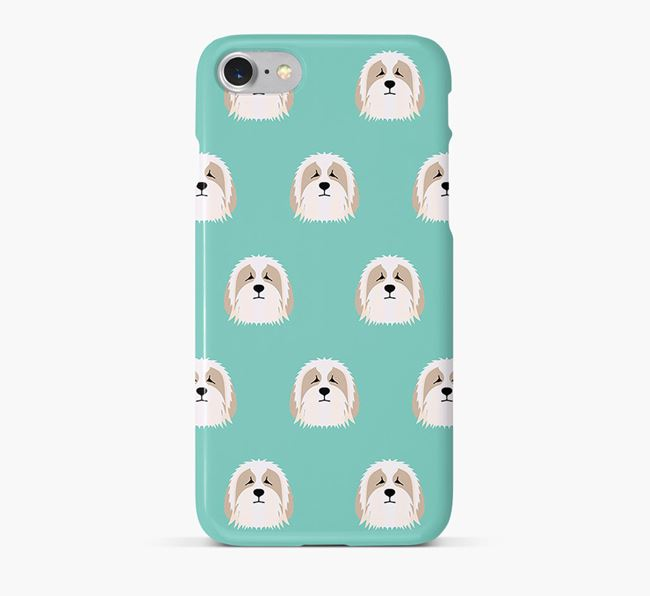 Phone Case with Bearded Collie Icons