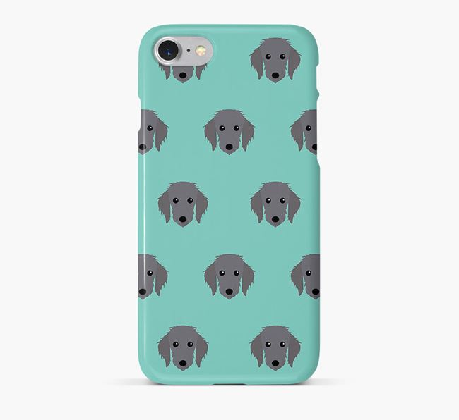 Phone Case with Bedlington Whippet Icons