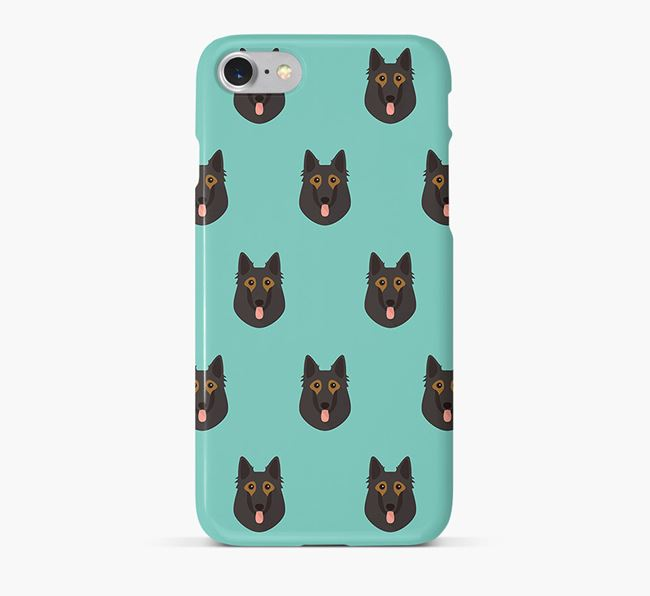 Phone Case with Belgian Shepherd Icons
