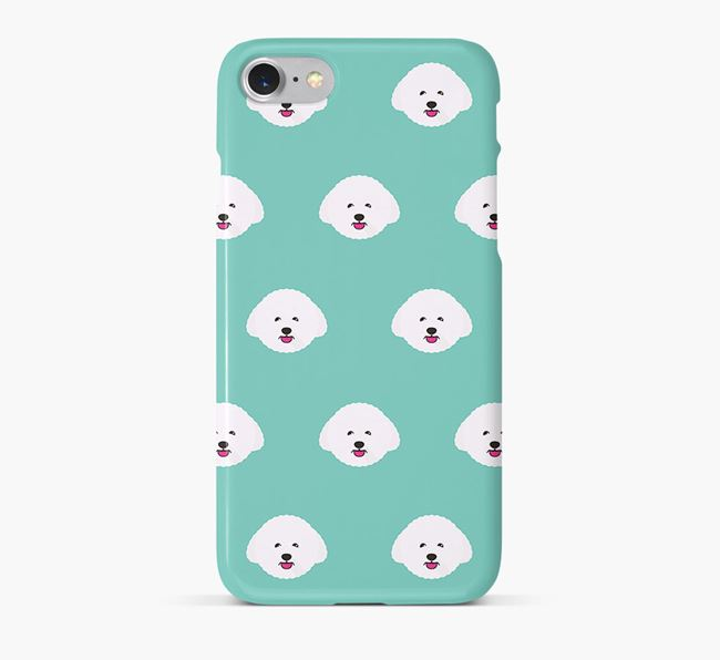 Phone Case with Bichon Frise Icons