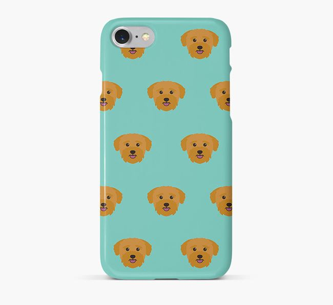 Phone Case with Bichon Yorkie Icons